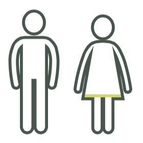 echtpaar grijs met groene rand in rok